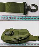 Тактическая EDC сумка однолямочная. Цвета: олива, койот, чёрный, фото 9