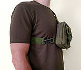 Тактическая EDC сумка однолямочная. Цвета: олива, койот, чёрный, фото 10