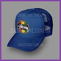 Кепка Тракер Stussy 'Rasta'   Синяя, фото 1