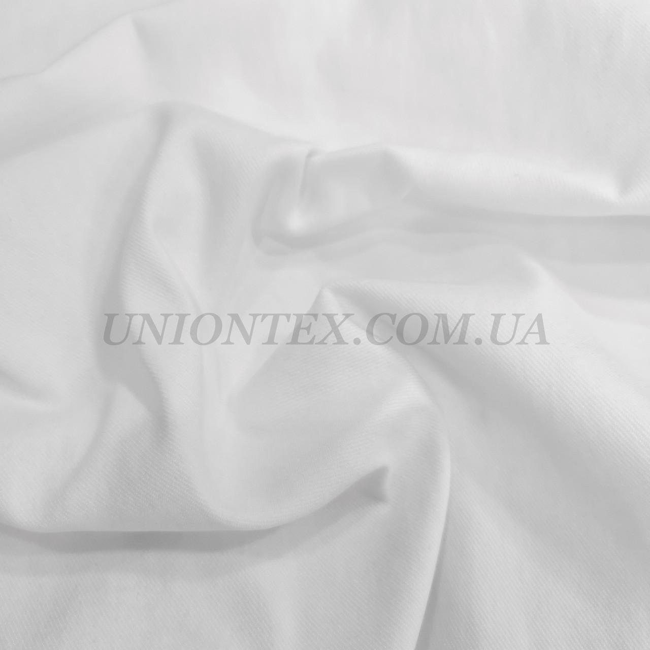 Ткань джинс-бенгалин белый