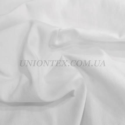 Ткань джинс-бенгалин белый, фото 2