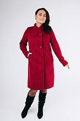 """Женское пальто """"Анжелика"""" в бордовом цвете"""