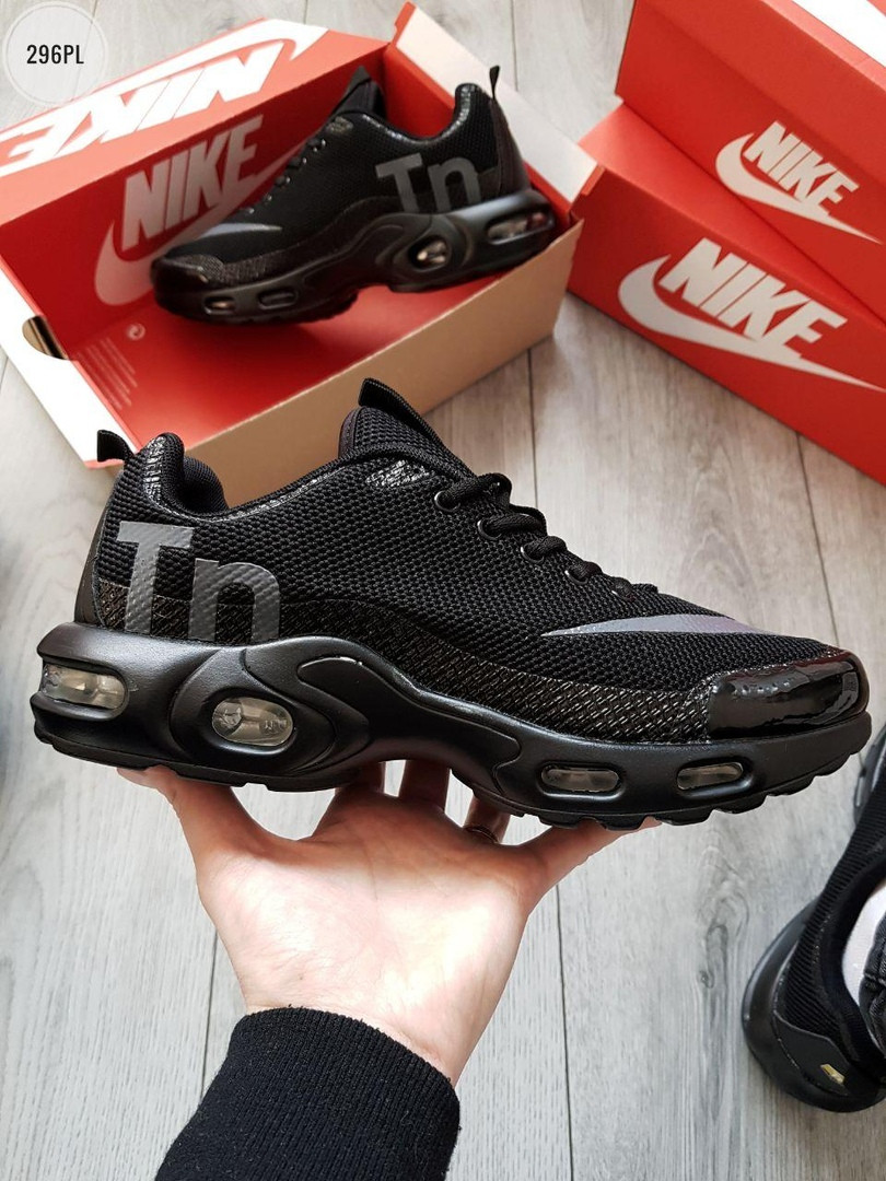 Мужские кроссовки Nike Air Max Tn (черные) 296PL