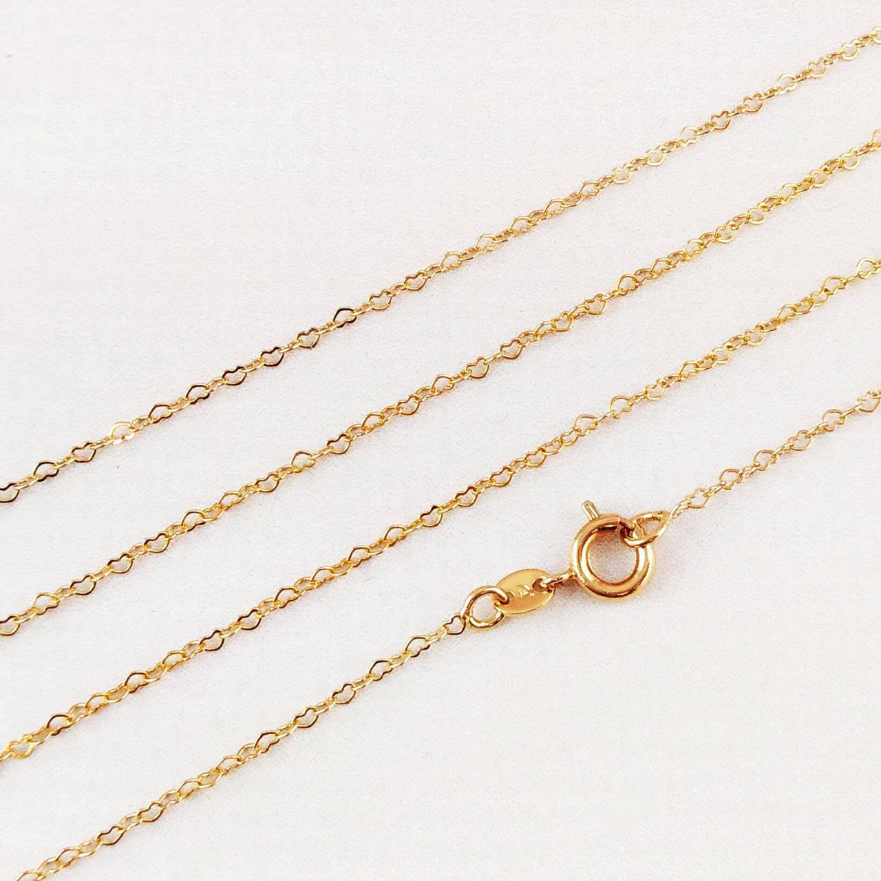 Цепочка Xuping Jewelry 55 см х 1,2 мм Сердечки медицинское золото позолота 18К А/В 3-0096