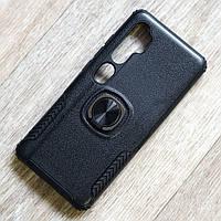 Противоударный чехол с кольцом держателем для Xiaomi Mi Mote 10 (черный), фото 1