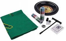 Набор для настольных игр 5в1, покер, блэкджек, рулетка, кости, покер в кости, фото 3