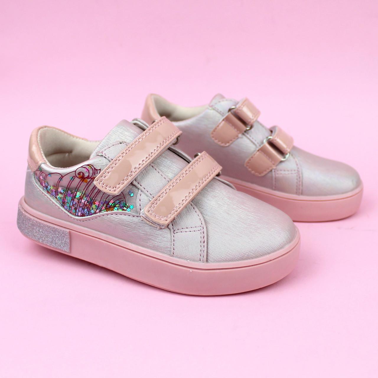 Детские кроссовки слипоны девочке розовая пудра бренд обуви Том.м размер 31,32