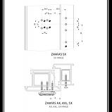 Петля (завіса) дверна Wala AXL 21-27мм для ПВХ на 160 кг, фото 2