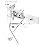 Петля (завіса) дверна Wala AXL 21-27мм для ПВХ на 160 кг, фото 4