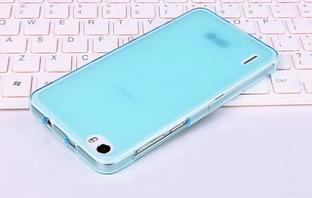 Силиконовый чехол для Huawei Honor 6 бирюзовый прозрачный