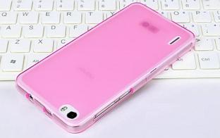 Силиконовый чехол для Huawei Honor 6 розовый прозрачный