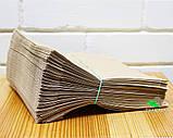 Крафт-пакет паперовий 250х250х60 мм, 100 шт, фото 2