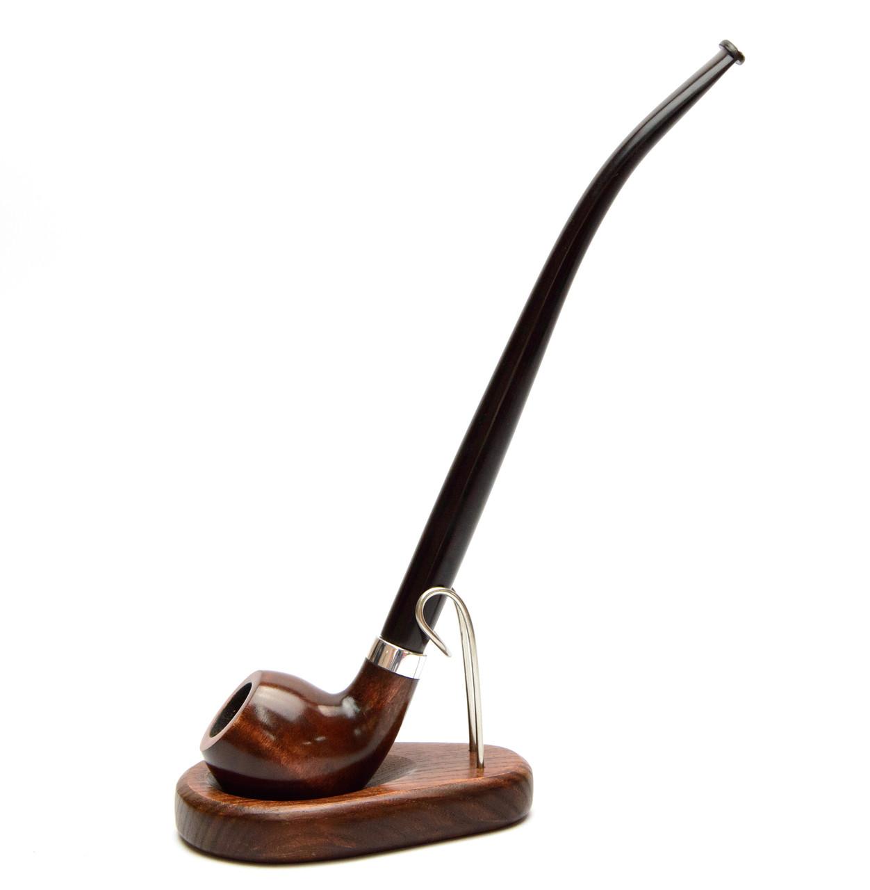 Подарочный набор курительная трубка с длинным мундштуком KAF219 Churchwarden и подставка