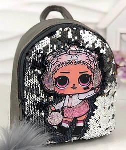 Дитячий рюкзак з паєтками срібний BR-S (1120084109)