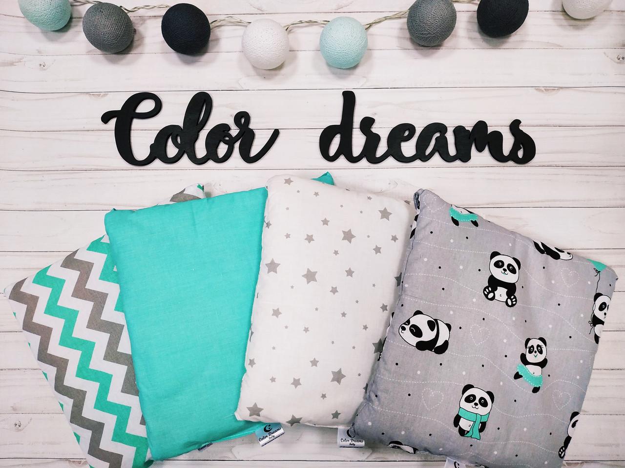 Набор бортиков Подушечки в кроватку малыша  Панда