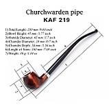 Набор - трубка KAF219 Churchwarden деревянная на длинном мундштуке с подставкой, фото 4