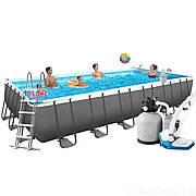 Каркасный бассейн Intex 26368 (732х366х132см) (Песочный фильтр с хлорогенератором и максимальная комплектация)
