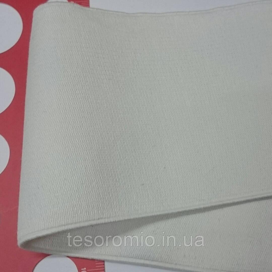 Резинка для одежды 88 мм, белая. Средней плотности, эластичная, на хлопковой основе