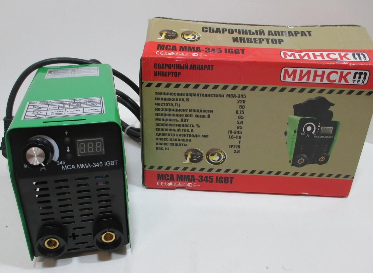 Сварочный аппарат инверторный Минск ММА-345 IGBT (Дисплей, 345Ампер)
