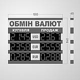 Табло обміну валют 1000х840 мм, фото 2