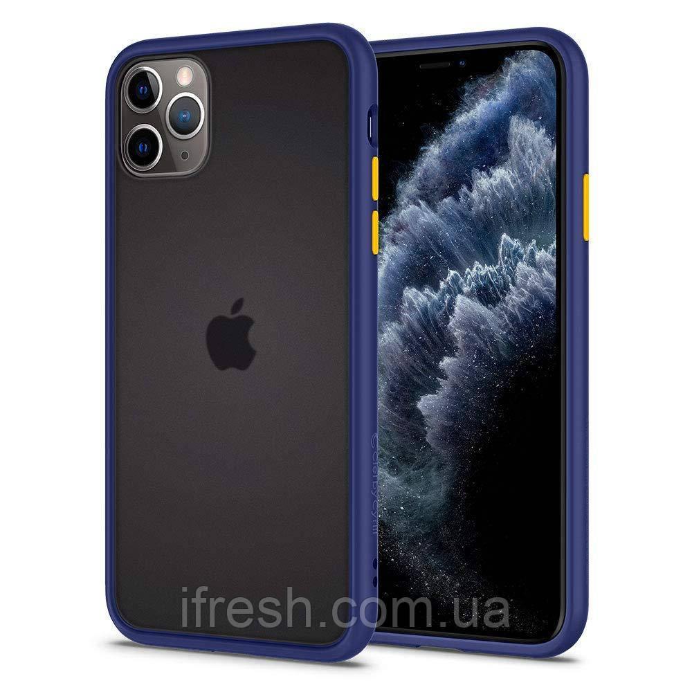 Чехол Spigen для iPhone 11 Pro Max Ciel Color Brick, Navy (ACS00423)