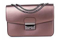 Итальянская женская сумка из натуральной кожи. Цвет: Сливовый, фото 1