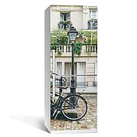 """Наклейка на холодильник Zatarga """"Велосипед"""" 650х2000мм разные цвета виниловая 3Д наклейка декор на кухню"""