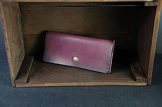 Женский кожаный кошелек Батерфляй Кожа Итальянский краст цвет Бордо, фото 2