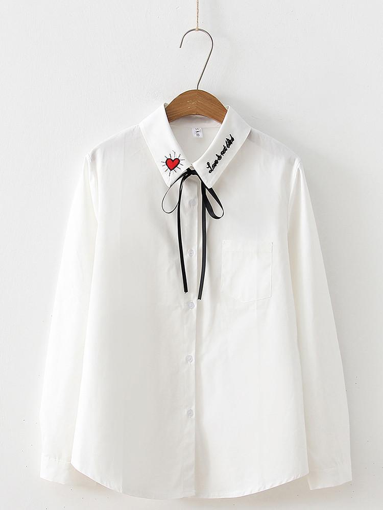 Женская белая рубашка с нарядным воротником 42-44 (в расцветках)