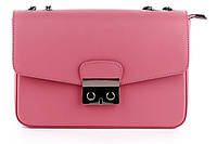 Итальянская женская сумка из натуральной кожи. Цвет: Розовый, фото 1