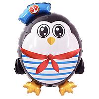 Фольгированный шар 30' Китай Пингвин моряк, 75 см