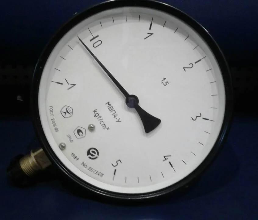 Мановакуумметр МВП4-У -1...9 кгс (-0.1...0.9 МПа)