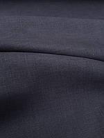 "Льняная костюмная ткань ""Вымытый черный"""