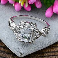 Серебряное кольцо Арника вставка белые фианиты вес 4.0 г размер 15