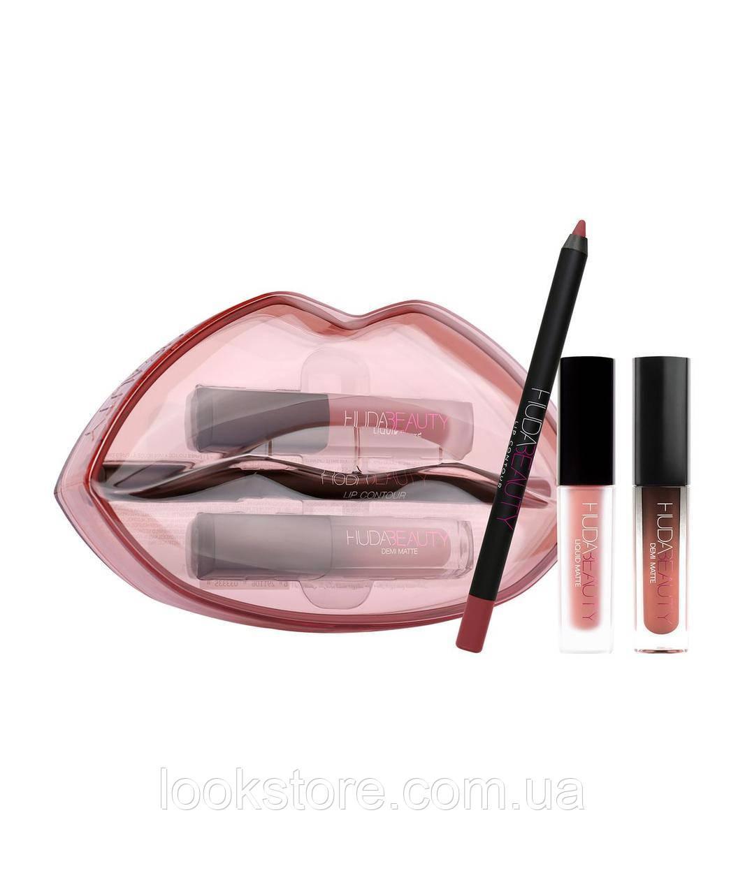 Набор для губ Huda Beauty Matte & Cream Lip - Bombshell & Mogul