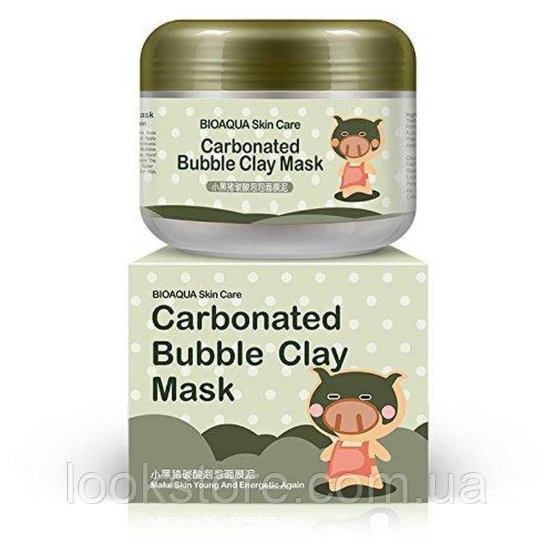 Маска для лица BIOAQUA Carbonated Bubble Clay Masksing кислородная пузырьковая отшелушивающая (100 гр)