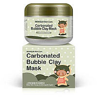 Маска для лица BIOAQUA Carbonated Bubble Clay Masksing кислородная пузырьковая отшелушивающая (100 гр), фото 1
