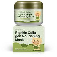 Питательная коллагеновая маска Bioaqua Skin Care Pigskin Collagen Nourishing Mask (100 гр), фото 1
