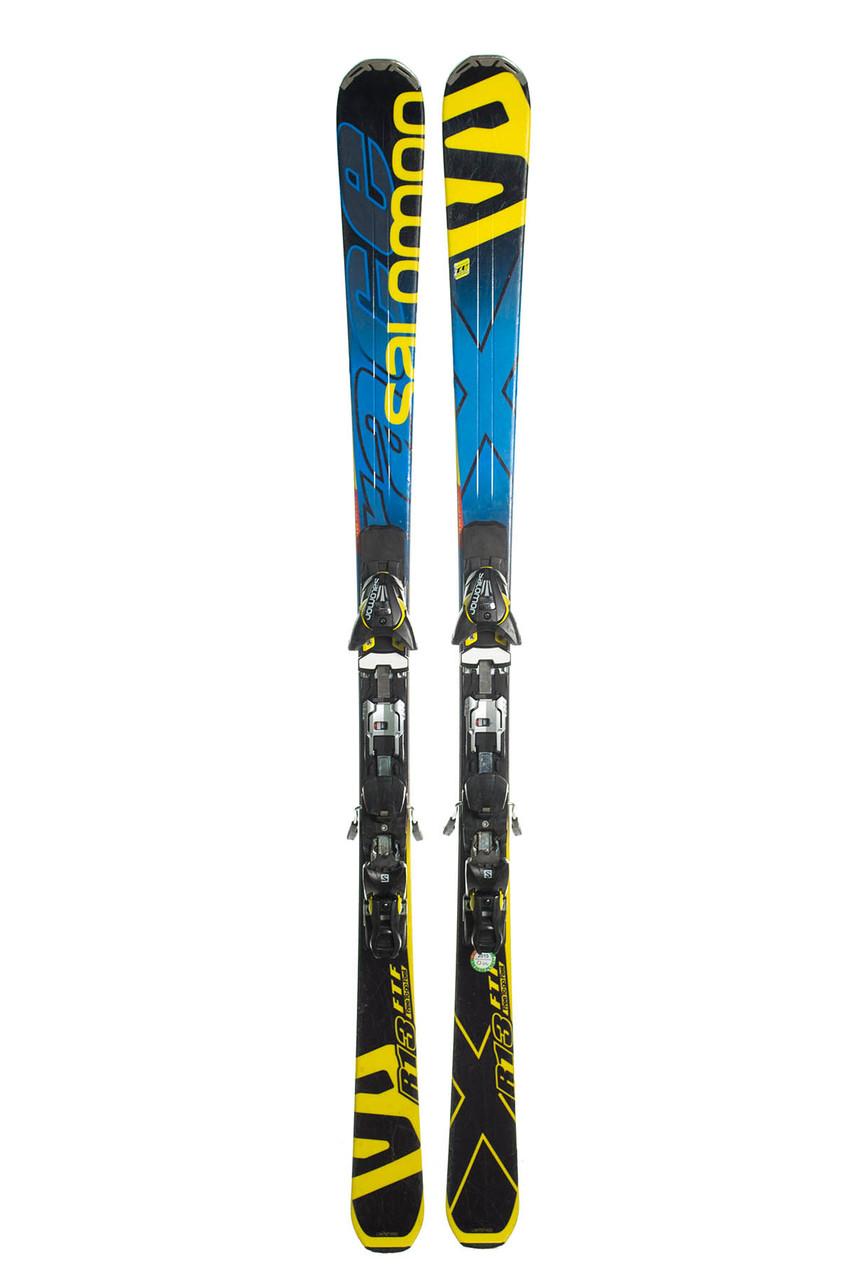 Лыжи горные Salomon R13 165 Black-Blue Б / У
