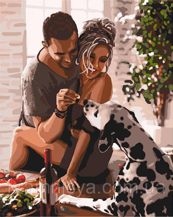 Картина по номерам КНО4666 ко дню св. Валенина (14 февраля) девушке, парню