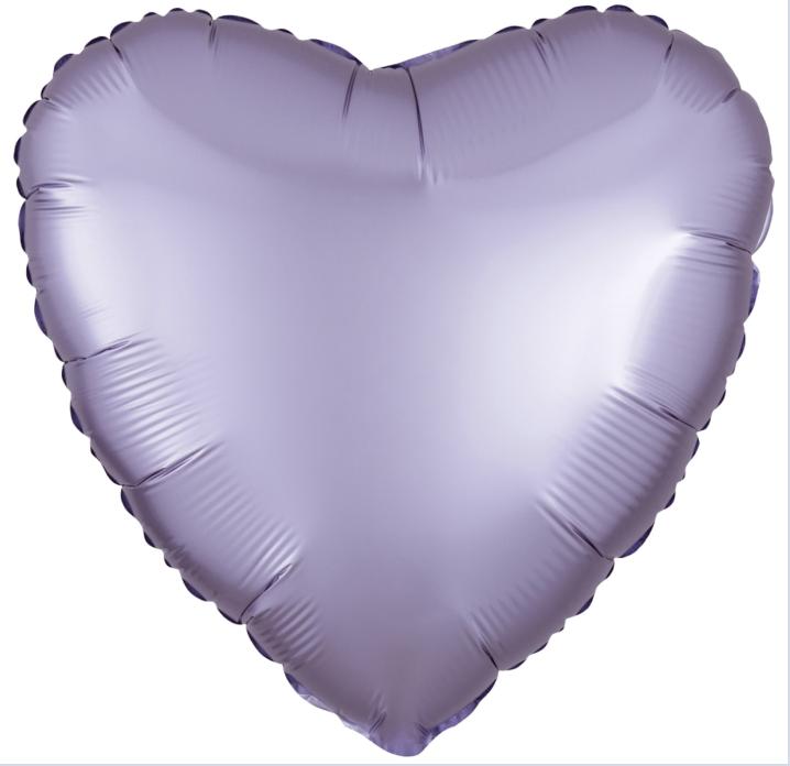 Фольгированный шар 18' Flexmetal Сердце лиловое сатин, 45 см