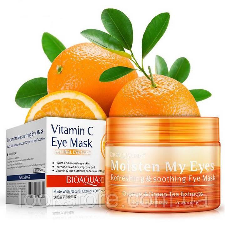 Маска-патчи с экстрактом апельсина и зеленого чая Bioaqua Orange Eye Mask (36 шт)