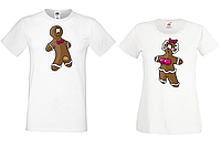 Парные футболки Push IT с принтом Печенюшки