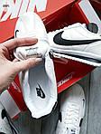 Чоловічі кросівки Nike Cortez (біло-чорні) 289PL, фото 2