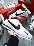 Чоловічі кросівки Nike Cortez (біло-чорні) 289PL, фото 5