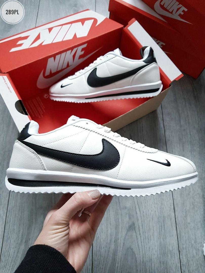 Чоловічі кросівки Nike Cortez (біло-чорні) 289PL