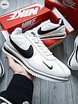 Чоловічі кросівки Nike Cortez (біло-чорні) 289PL, фото 6