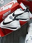 Чоловічі кросівки Nike Cortez (біло-чорні) 289PL, фото 7