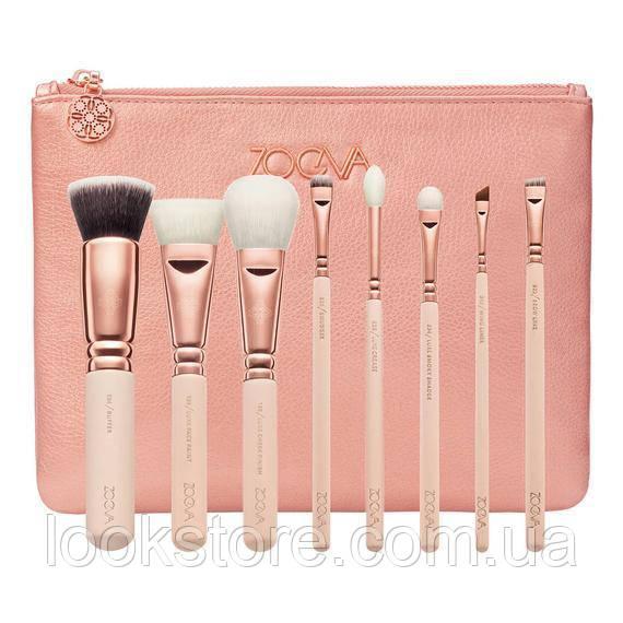 Набор кистей ZOEVA Rose Golden Luxury Brush Set Vol.2 розовый 8 шт