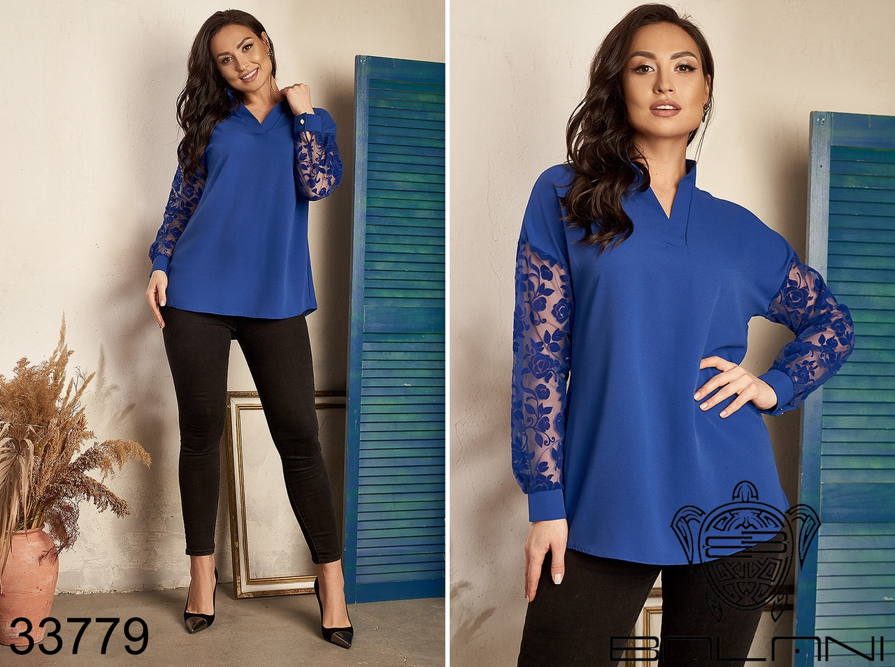 Строгая и элегантная женская блуза Размер : 50-52,54-56,58-60